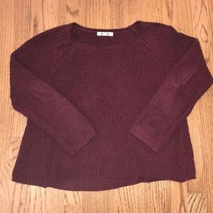 Maroon Chenille Sweater